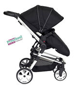 Travel System Daisy Black 3 In 1 Incl. Car Seat + Free Isofix Base And Mamas Bag