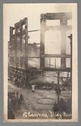 [55767] 1909 Rppc Remains Of Shannon Building From Fire, Norwich, Connecticut