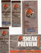 1999 Inaugural Season Cleveland Browns Ticket Stub Ravens Colts Bengals Pick One