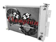 1968-74 Dodge Plymouth Cross Flow Ar Radiator + Two 10 Fans Small Block