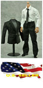 ❶❶new 1/6 Scale Black Color Suit Full Set Man Clothing Hot Toys Us Seller❶❶