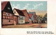 Vintage Greeting Cards 20`s Black Forrest Street2738 Small Card