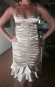 Blondie Nites Womenand039s Gold Ruched Sexy V-neck Halter Dress Size 3 New Prom