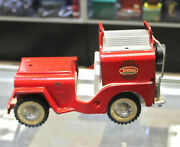 Vintage Rare Tonka Toys Usa Red Jeep Car Truck Toy