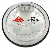 1958 1959 1960 Corvette Front Rear Emblem Assembly Silver Made In The Usa