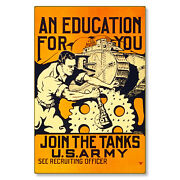 United States Us Army Join Tanks Corp Wwi Poster Metal Sign Steel Not Tin 24x36