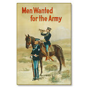 Us Army Men Wanted Bugle Call Wwi Poster Art Metal Sign Steel Not Tin 24x36