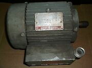 Ge Tri Clad Induction Motor 5k143bl259e 1 Hp 3-phase 1745 Rpm 3.7/1.85a