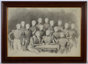 Franz Wolf-attr. Group Portrait Of 15 Officers Of The 1st Arcieren Life Guards