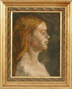 20th Century American Impressionistic Oil Painting Of A Woman By Carol Hamann