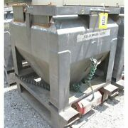 32 Cubic Foot Used Metal Tote Bin With Bray Butterfly Valve