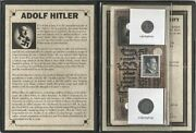 Hitler Third Reich 2 Coins 2 Banknotes1 Stampwwii Albumstory Certificate