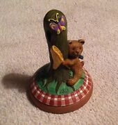 Cookie Stamp Pooh With Butterfly Net