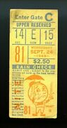 1969 St Louis Cardinals @ New York Mets Ticket Stub - Mets Clinch Pennant