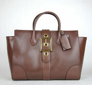 2950 New Lady Buckle Leather Top Handle Bag Raddish Brown 323650 5405