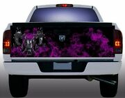 Pink Flame Fire Dodge Ram Truck Tailgate Vinyl Graphic Decal Wraps