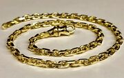 14kt Solid Yellow Gold Handmade Cable Link Chain/necklace 20 35 Grams 4.5mm