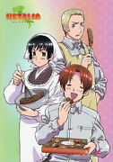 Hetalia Axis Powers Germany, Italy And Japan Poster Wall Scroll 27.8 X 19.7 In