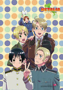 Hetalia Axis Powers Group W/ Polka Dots Poster Wall Scroll 27.8 X 19.7 Inches