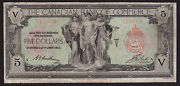 Canada 1917 5 Canadian Bank Of Commerce Ch-75-16-04-02 F/vf
