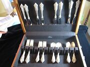 Wallace Grande Baroque Sterling Silver46 Pc-8 Pl 5 Pc + 6 Acc. Exlt Condition