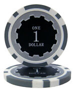 100 Gray 1 Eclipse 14g Clay Poker Chips - Buy 2 Get 1 Free