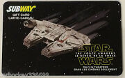 Subway Canada Star Wars Set Collectible Gift Card No Cash Value French/eng