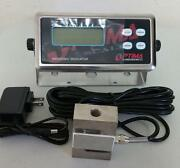 Compression Scale 20000 X 1 Lb S Type Load Cell/ Digital Indicator,20' Cable,new