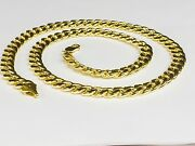 10kt Yellow Gold Miami Cuban Curb Link 24 8 Mm 40 Grams Chain/necklace 210hmc
