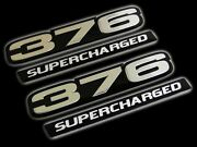 Vms 2 Chevy 376 Ci Supercharged Engine Small Block Aluminum Emblem Silver Black