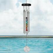 Woodstock Chakra Chimes - Seven Stones Wind Chimes 17 Overall Length  Dm