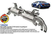 Performance Sport Exhaust Muffler For Audi R8 5.2 Fsi Quattro V10 532hp And03909-and03912