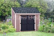 Shed Plans 6and039 X 8and039 Backyard Storage Lean To Roof Style Design D0608l