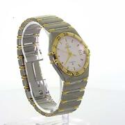 Authentic Menand039s Omega Constellation 18k Yellow Gold Stainless Steel Watch