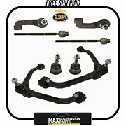 8 Pcs Kit Ball Joint Control Arm Tie Rod End For Jeep Liberty 5 Years Warranty