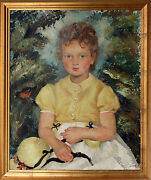 Canadian 20th Century Oil Painting Ernest Alfred Dalton 1887-1963 Of Young Girl