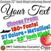 22andrdquo Custom Vinyl Lettering Decal Sticker Large Vinyl Sign Boat Numbers Letters