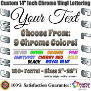 14 Inch Custom Chrome Letters Numbers Decal Sticker Vinyl Boat Car Truck Window