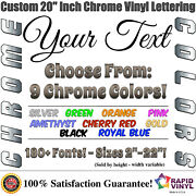 20 Inch Custom Chrome Letters Numbers Decal Sticker Vinyl Boat Car Truck Window