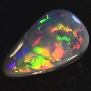 Magnificent Fiery Bright Natural Genuine Solid Australian Black Opal 10723