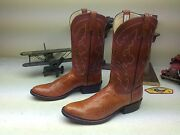 Custom Hand-made Cavazos Boots Of Mercedes Rust Aligator Leather Boots 10.5 D