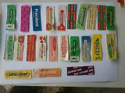 Chewing Gum Wrappers Lot 4