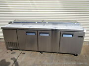 New Equipchefs 93 Refrigerated Pizza Prep Table Picl-3 On Casters Picl3