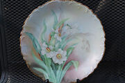 D And C Limoges Porcelain Plate Scalloped Embossed Hand Painted Ca1894-1900 France