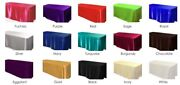 25 Pack 60x120 Rectangle Satin Tablecloth Wedding Seamless Catering Table Cover
