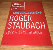 Topps Cardboard Icons Roger Staubach Red Ed. 5 X 7 Serial 05/10 Sold Out Rare