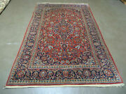 4and039 X 7and039 Vintage Fine Hand Made India Oriental Wool Rug Carpet Hand Knotted Red