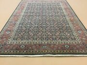6and039 X 9and039 Navy Rust Fine Geometric Oriental Area Rug Hand Knotted Office/study