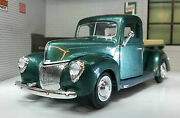G Lgb 124 Scale 1940 Ford Delivery Truck Pickup Diecast Model Green 73234