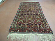 4and039 X 8and039 Antique Hand Made Russian Bokhara Turkoman Yamud Wool Rug Carpet Nice